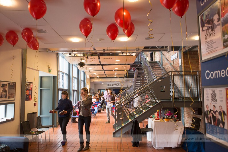 Cambridge Junction foyer, Sampled Festival May 2013