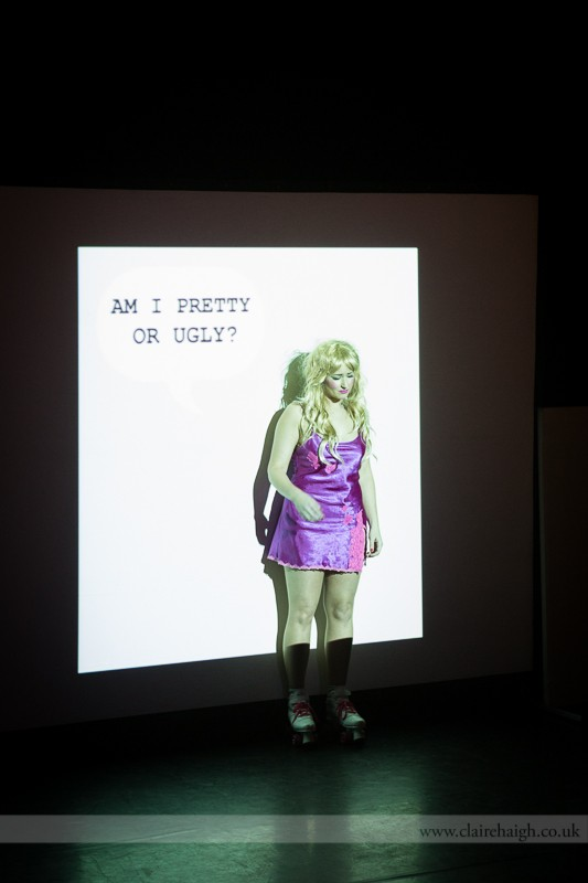 Louise Orwin. Am I Pretty/Ugly? Cambridge Junction, Sampled Festival, May 2013.