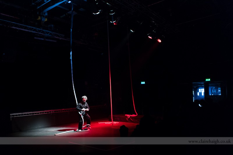 Jonathan Priest. Knot Circus. Cambridge Junction, Sampled Festival, May 2013.