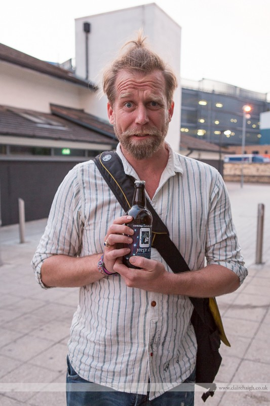Tony Law at the Cambridge Comedy Festival, July 2013.