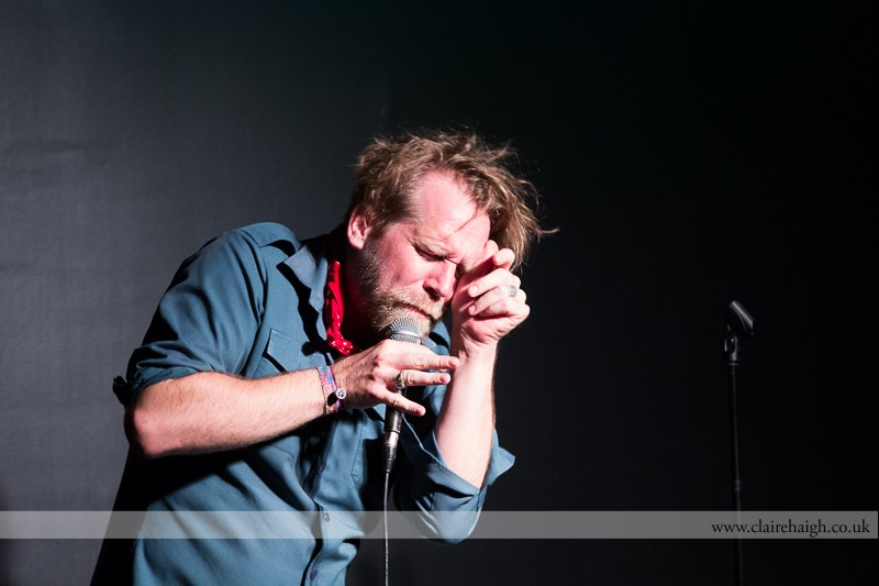 Tony Law performing at Bar Nusha as part of the Cambridge Comedy Festival, July 2013.