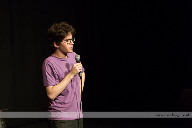 Franki Brickman performing at Cambridge Junction with the Comedy Club 4 Kids as part of the Cambridge Comedy Festival, July 2013.
