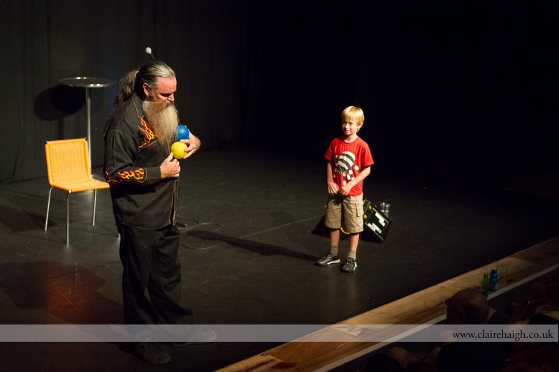 Martin Mor performing at Cambridge Junction with the Comedy Club 4 Kids as part of the Cambridge Comedy Festival, July 2013.