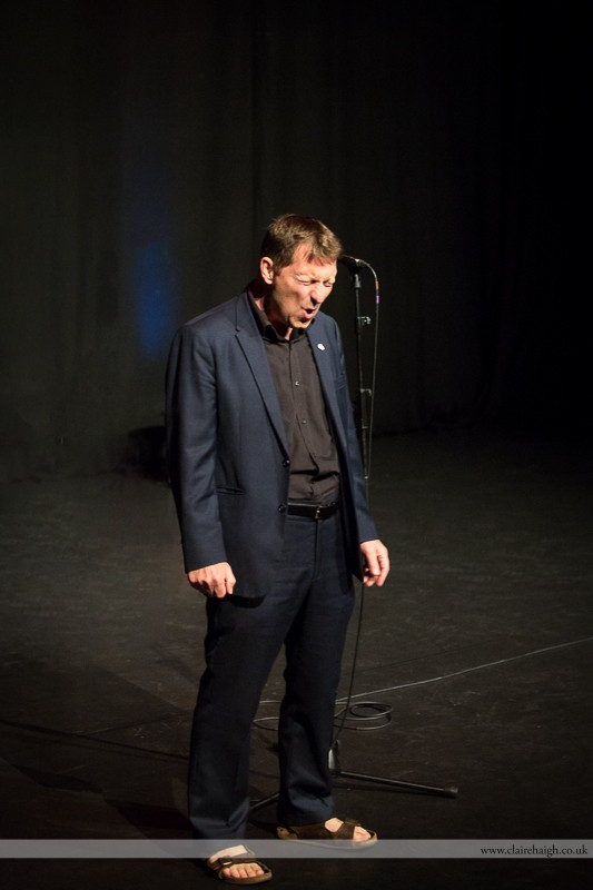 Otiz Cannelloni performing at Cambridge Junction with the Comedy Club 4 Kids as part of the Cambridge Comedy Festival, July 2013.