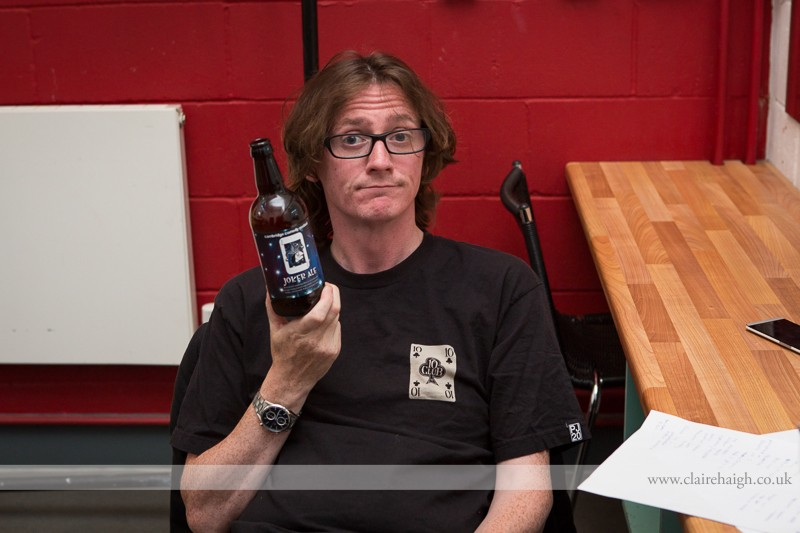 Ed Byrne backstage at Cambridge Junction during the Cambridge Comedy Festival, July 2013.