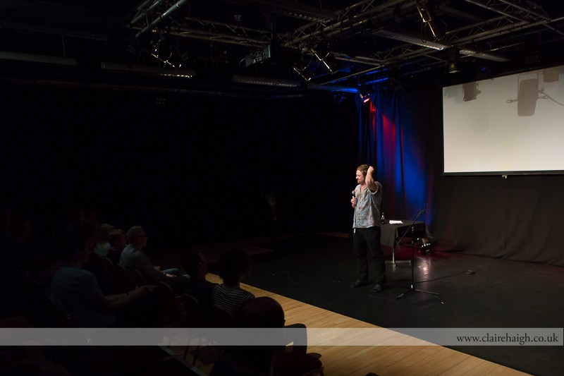 Glenn Wool performing at Cambridge Junction as part of the Cambridge Comedy Festival, 19 July 2013.