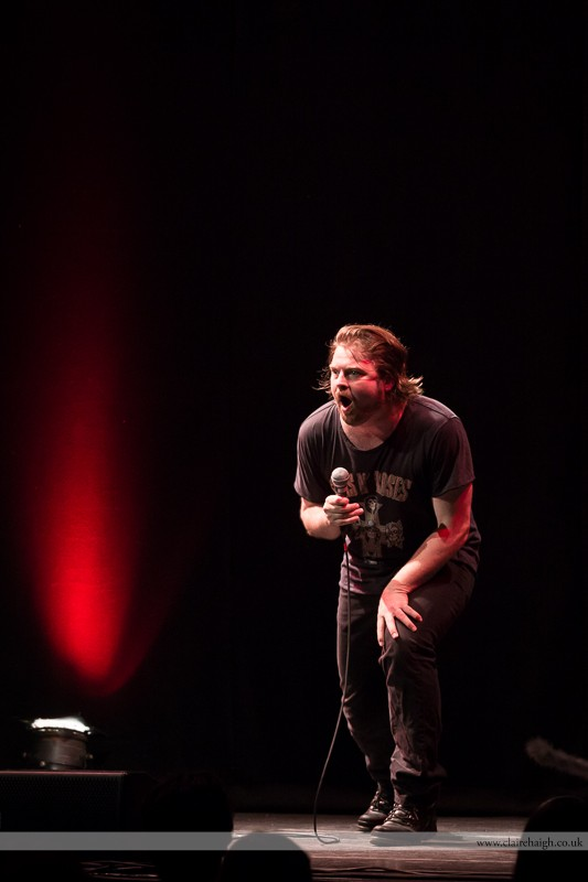 Glenn Wool performing at Cambridge Corn Exchange as part of the Cambridge Comedy Festival, July 2013.