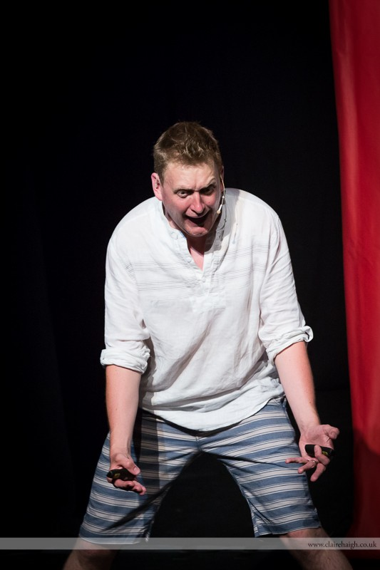 Howard Read performing at Cambridge Junction as part of the Cambridge Comedy Festival, 19 July 2013.