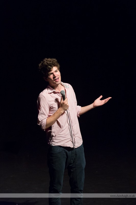 Ivo Graham performing at Cambridge Junction as part of the Cambridge Comedy Festival, July 2013.