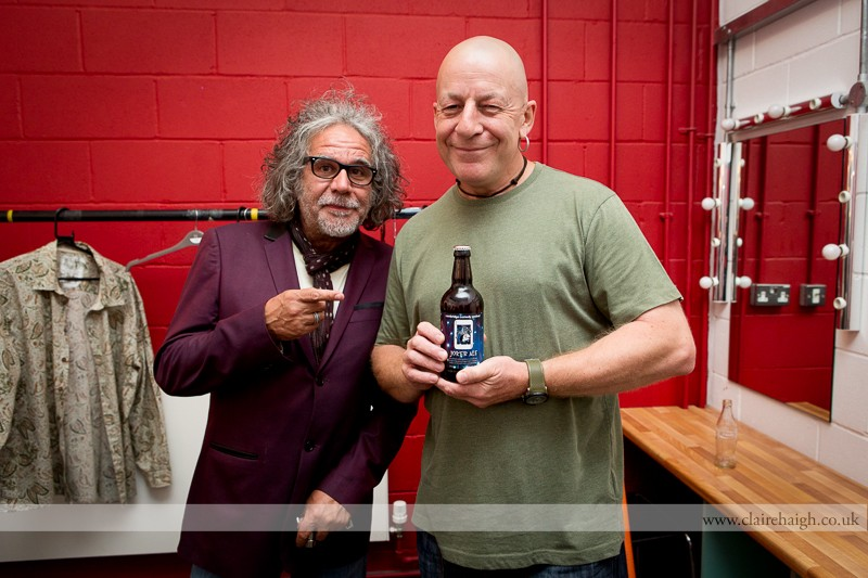 Marc Lucero and Jeff Innocent backstage at Cambridge Junction during the Cambridge Comedy Festival, 19 July 2013.