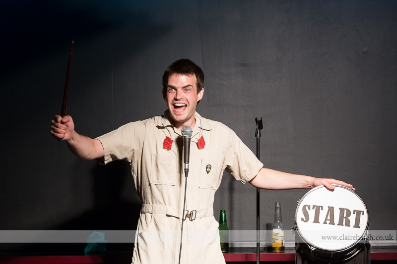Pat Cahill performing at Bar Nusha as part of the Cambridge Comedy Festival, 17 July 2013.