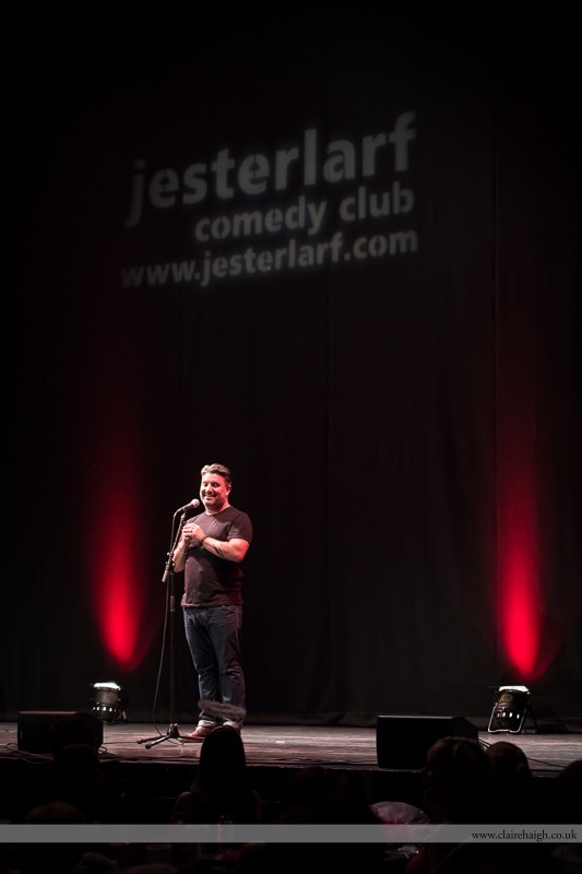 Rich Wilson performing at Cambridge Corn Exchange as part of the Cambridge Comedy Festival, July 2013.