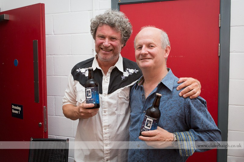 Rory McGrath and Philip Pope backstage at Cambridge Junction during the Cambridge Comedy Festival, July 2013.