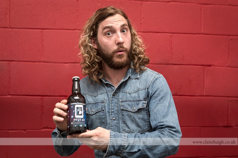 Seann Walsh backstage at Cambridge Junction during the Cambridge Comedy Festival, 19 July 2013.