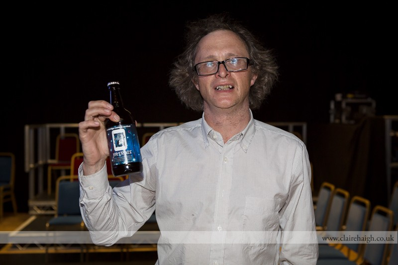 Simon Munnery at Cambridge Junction during the Cambridge Comedy Festival, July 2013.