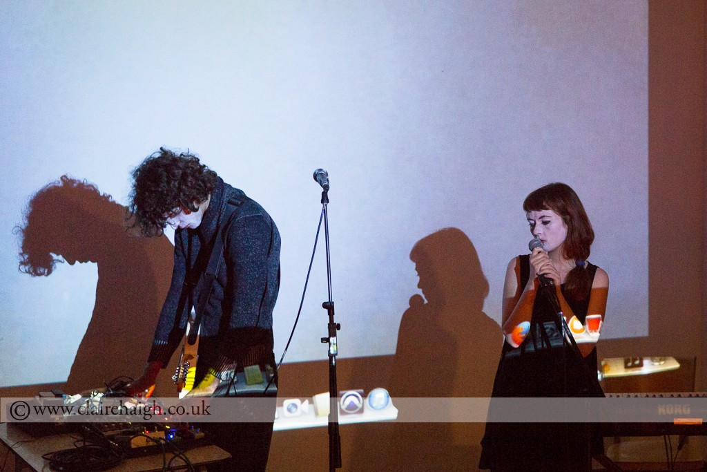 Gaze is Ghost with Blanche Laviale presented by Shindig performing as part of the Nightwatch Festival at Cambridge Junction, July 2014