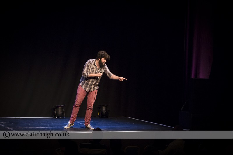 Rhys Mathewson at the Cambridge Comedy Festival, Cambridge Junction, July 2014