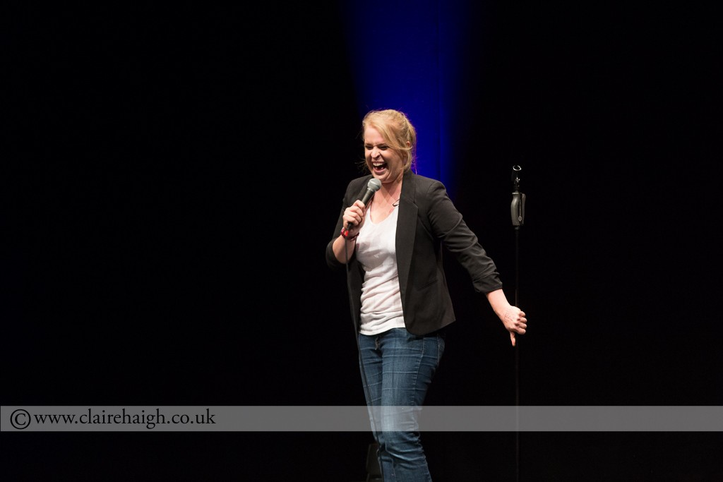 Hayley Ellis at Cambridge Corn Exchange during The Comedy Festival, July 2014