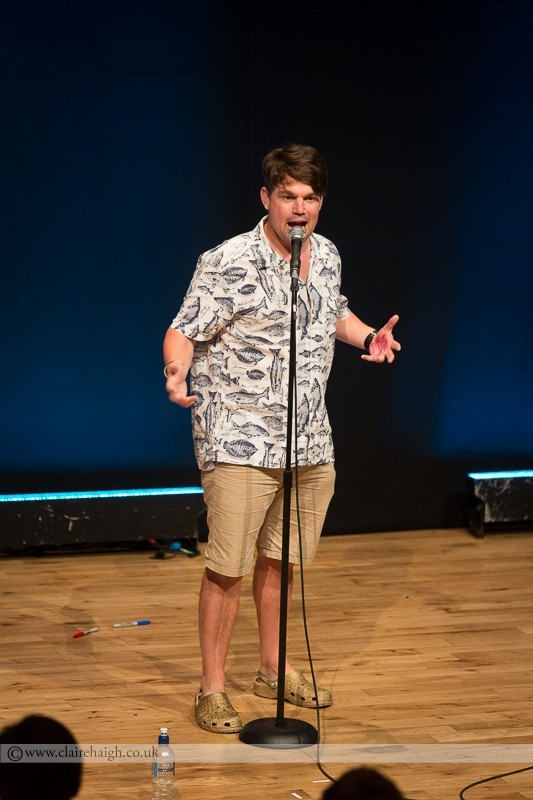 Charlie Baker performing  at Cambridge Junction as part of Comedy Club 4 Kids at Cambridge Comedy Festival