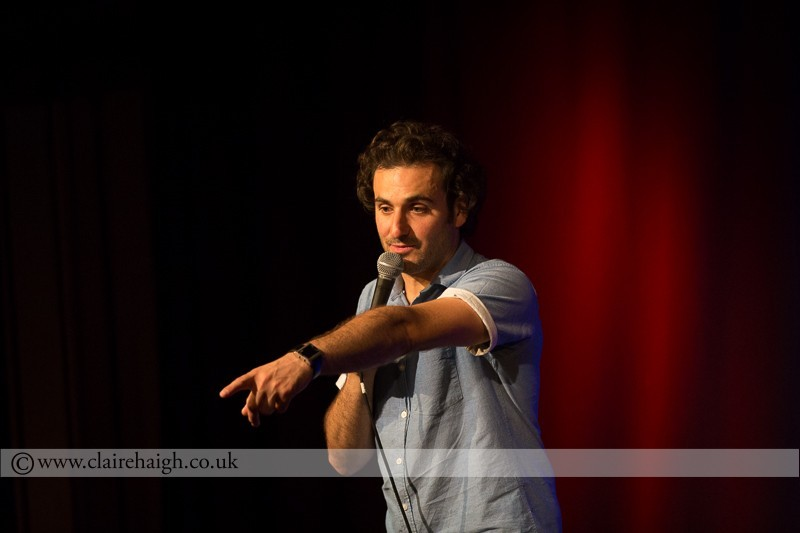 Patrick Monahan performing at Cambridge Junction as part of the Cambridge Comedy Festival