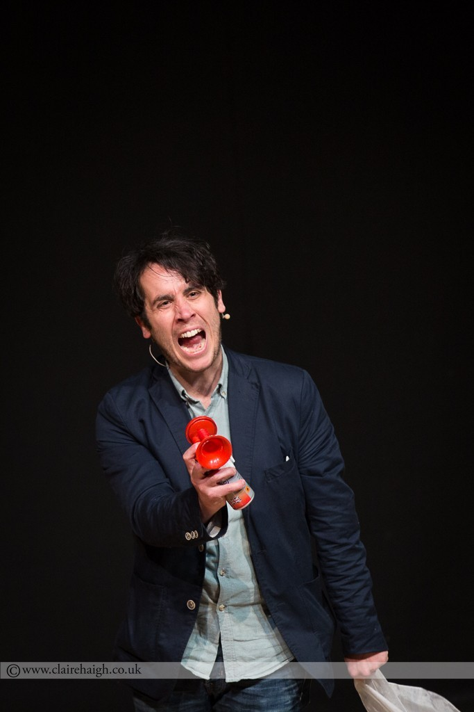 Pete Firman performing at Cambridge Junction as part of the Cambridge Comedy Festival