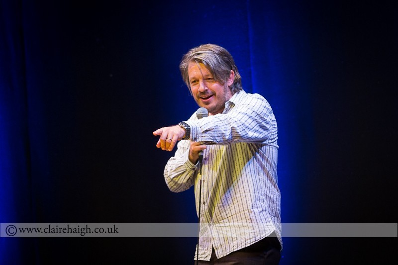 Richard Herring performing at Cambridge Junction as part of the Cambridge Comedy Festival