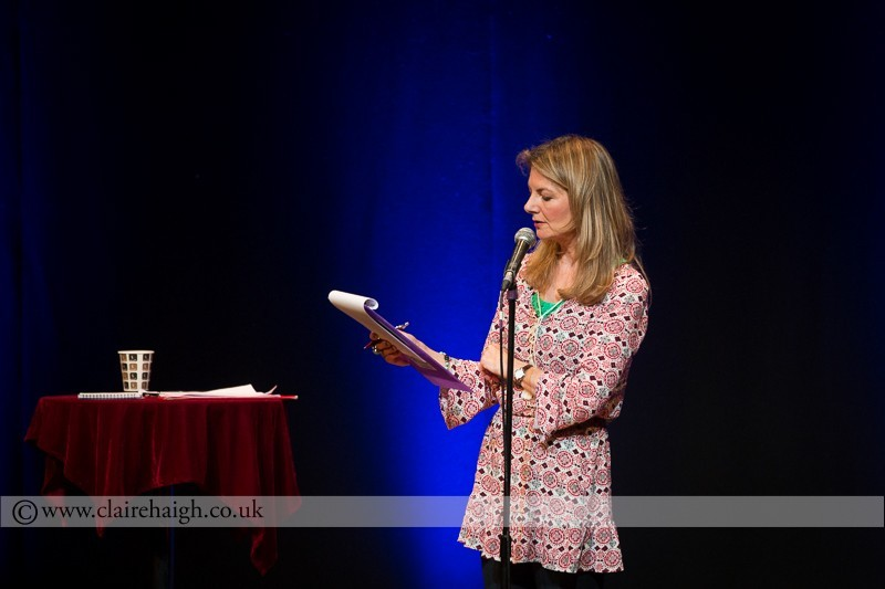 Jo Caulfield performing at Cambridge Junction as part of the Cambridge Comedy Festival