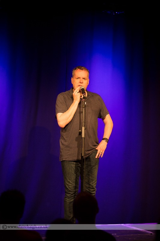 Kevin Day performing at Cambridge Junction as part of the Cambridge Comedy Festival