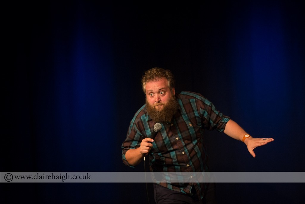 Phil Jerrod performing live at Cambridge Junction as part of the Cambridge Comedy Festival