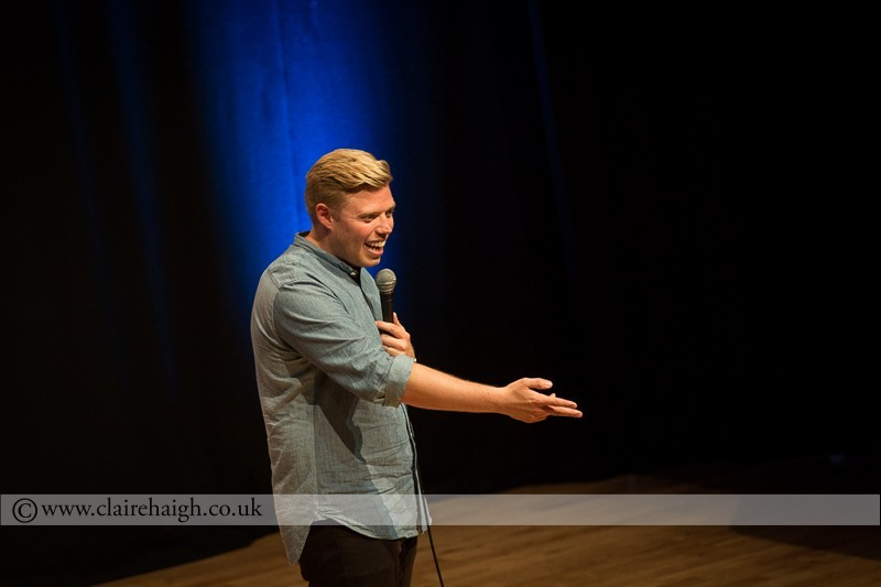 Rob Beckett performing at Cambridge Junction as part of the Cambridge Comedy Festival