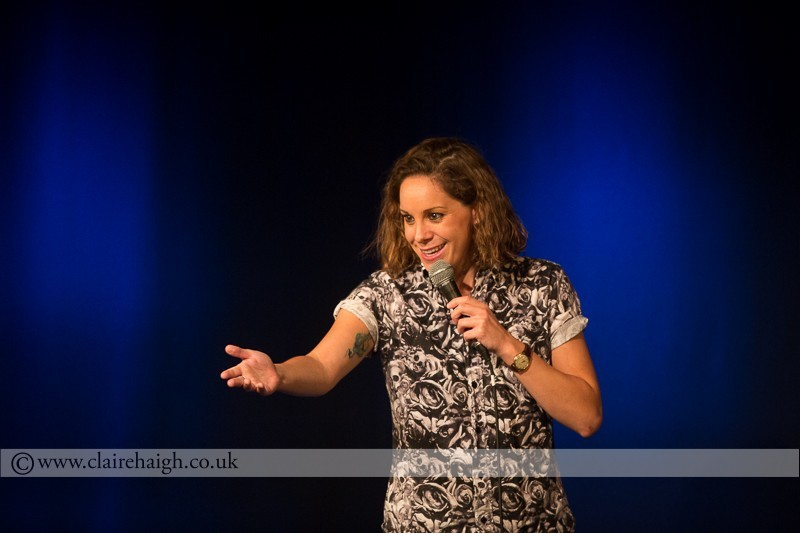 Suzi Ruffell performing at Cambridge Junction as part of the Cambridge Comedy Festival