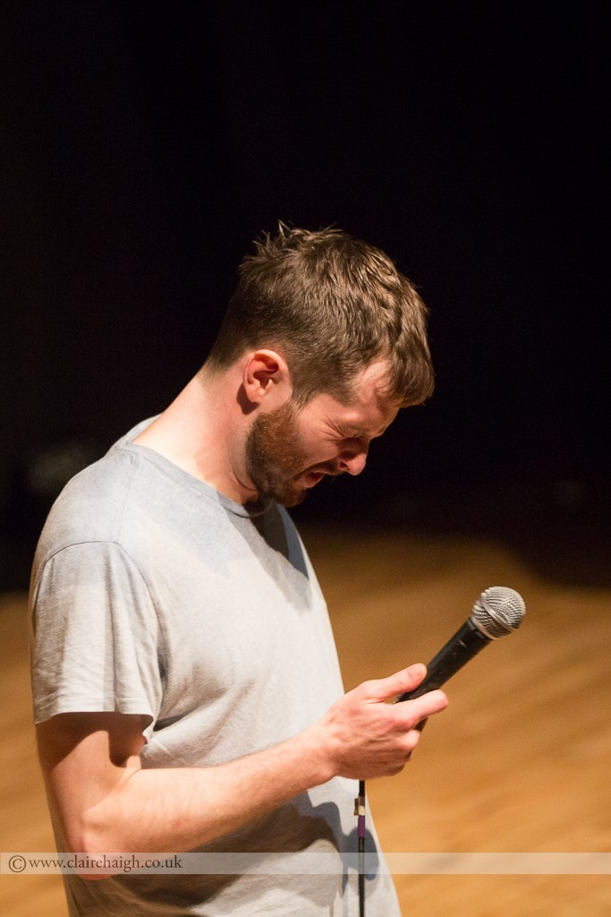 Liam Williams performing live at Cambridge Junction as part of the Cambridge Comedy Festival