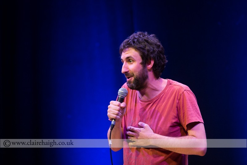 Mark Watson performing at Cambridge Junction as part of the Cambridge Comedy Festival