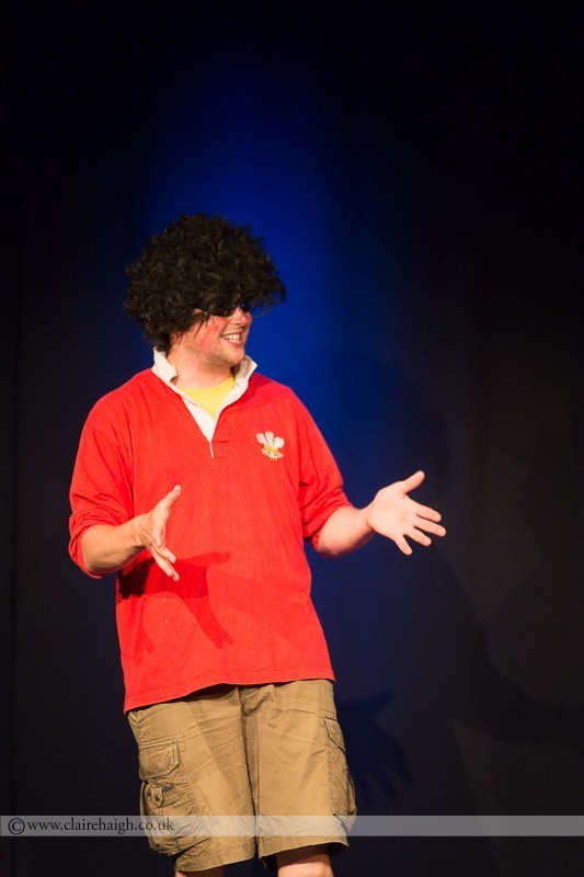 Tom Parry performing at Cambridge Junction as part of the Cambridge Comedy Festival