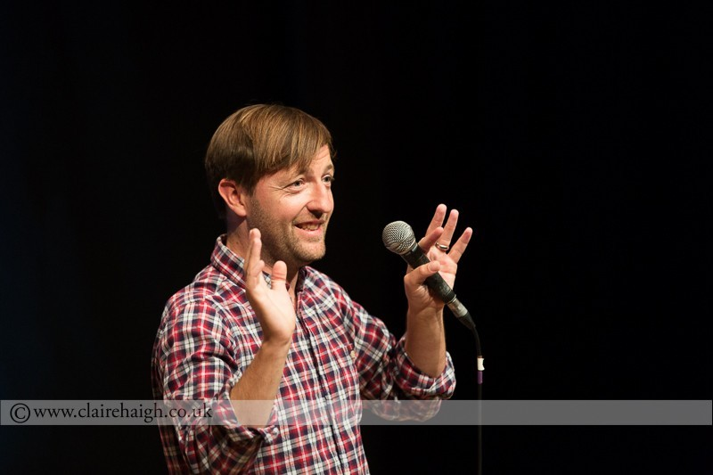 Andrew Maxwell performing at Cambridge Junction as part of the Cambridge Comedy Festival