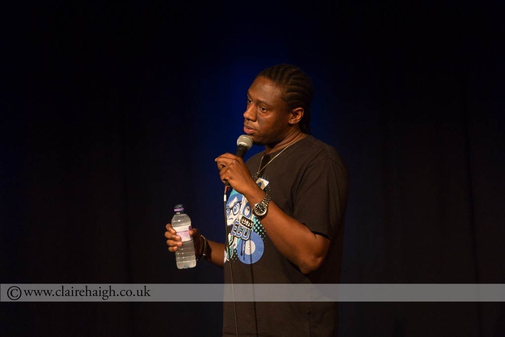 Nathan Caton performing at Cambridge Junction as part of the Cambridge Comedy Festival