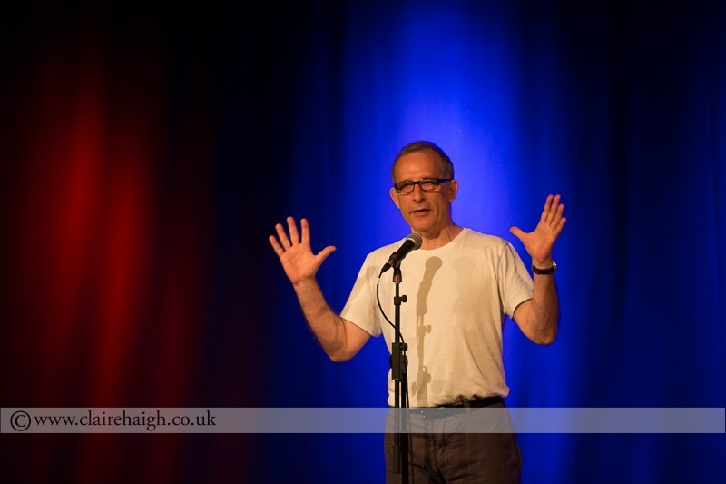 Nick Revell performing at Cambridge Junction as part of the Cambridge Comedy Festival
