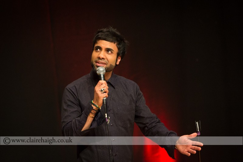 Paul Chowdry performing at Cambridge Junction as part of the Cambridge Comedy Festival