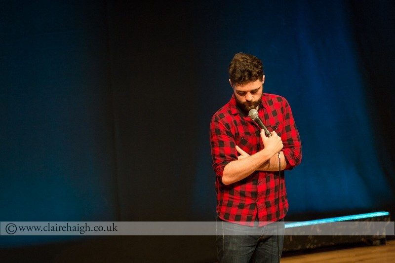 Edd Hedges performing at Jesterlarf New Act Showcase at Cambridge Junction as part of the Cambridge Comedy Festival