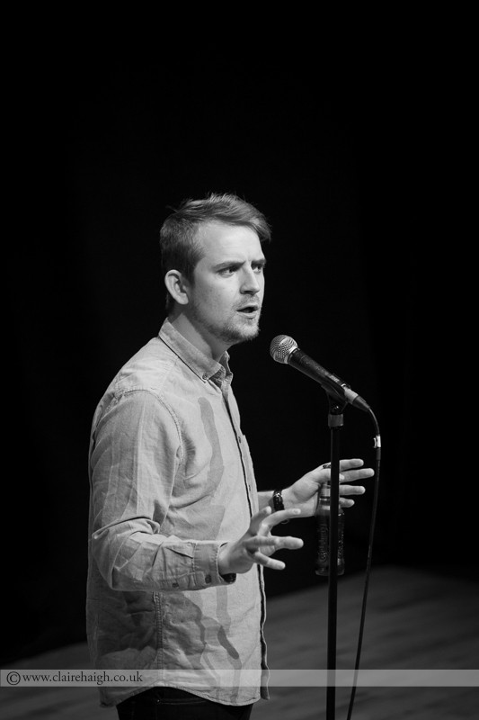 Jack Campbell performing as part of Jesterlarf New Act Showcase at Cambridge Junction as part of the Cambridge Comedy Festival