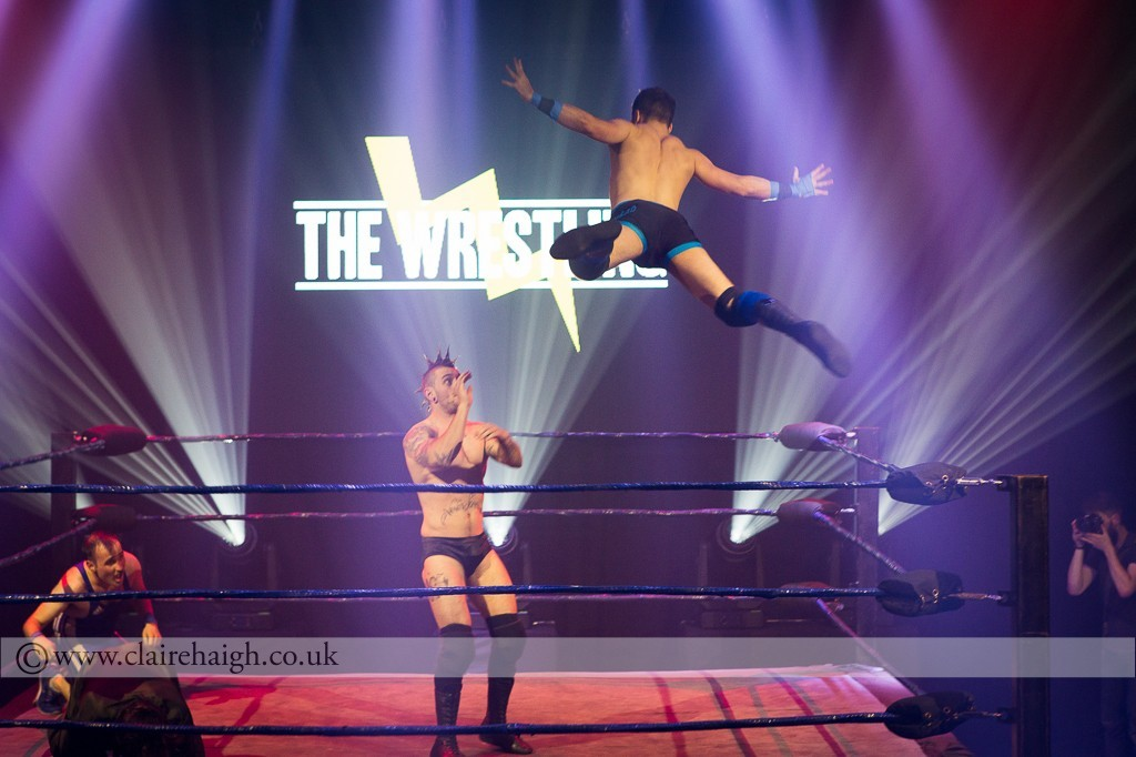 'The Anarchist' James Castle and Dan 'The Hammer Head' at The Wrestling, Pleasance 2015