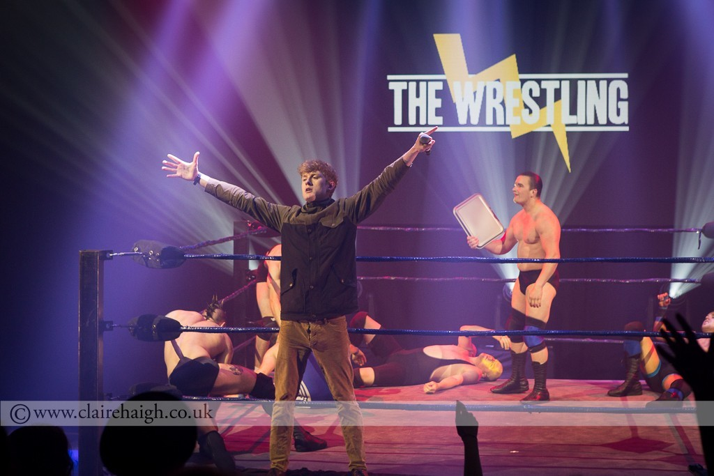 James Acaster entering the ring at The Wrestling, Pleasance 2015