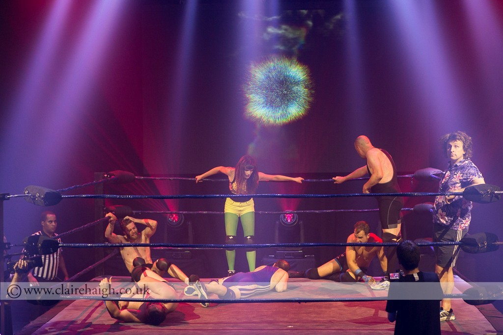 comedians and wrestlers at The Wrestling, Pleasance 2015