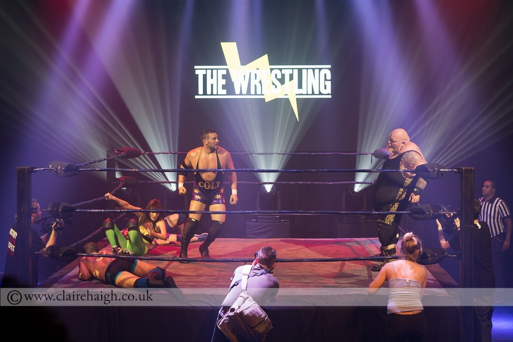 Colt Cabana about to take on The Bulk at The Wrestling, Pleasance 2015